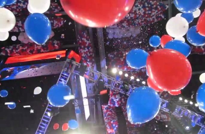 Balloon drop at conventon.