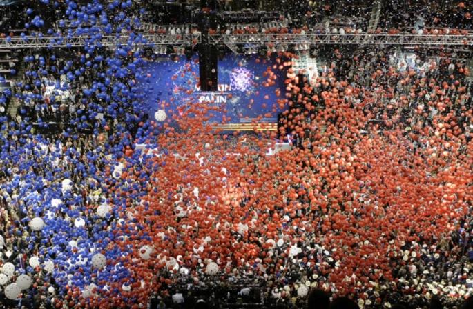 balloon drop at convention
